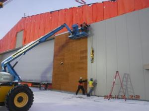 11-14-17 Wing Wall Install East Door #12