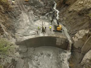 Deconstruction of Dam Face
