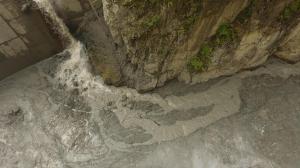 Built Up Silt/Clay behind Dam Face