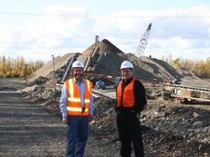 Jim Arnesen & Curtis McQueen at Birchwood Industrial Park