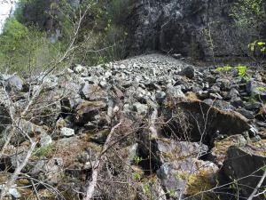 Rock Face Prior to Dam Removal