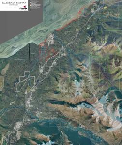 2013 Wall Map EK west - Ownership Eagle River to Eklutna Lake(Website)