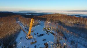 Crane Laydown Area During Winter