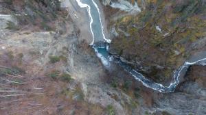 Eklutna River Partially Frozen-Late September