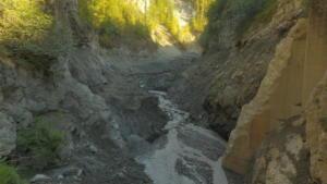 Lower Eklutna dam after job completion