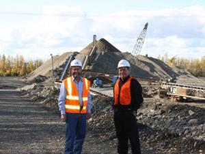 Jim Arnesen & Curtis McQueen at Birchwood Industrial Park
